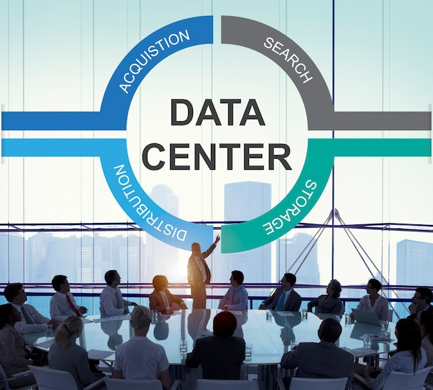 Concepto de centro de protección de información de datos