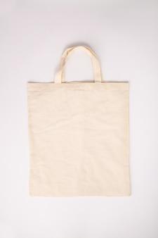 Concepto de cero residuos. bolsa de algodón ecológica