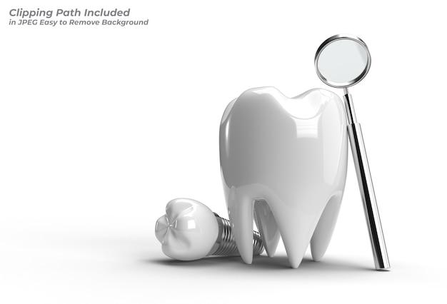 Concepto de cirugía de implantes dentales trazado de recorte creado con la herramienta pluma incluido en jpeg fácil de componer.