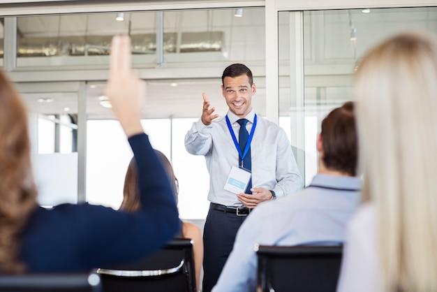 Concepto de coaching y formación empresarial