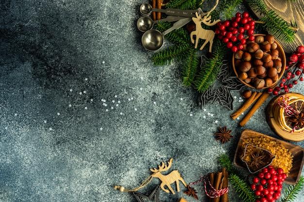 Concepto de cocina navideña