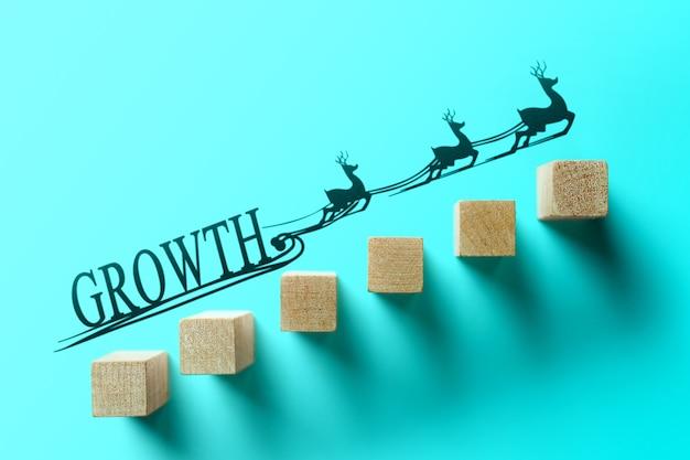 Concepto de color de negocio de crecimiento.