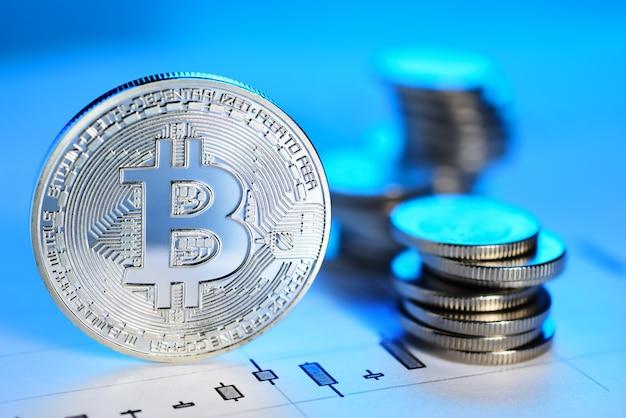 Concepto de comercio de bitcoin