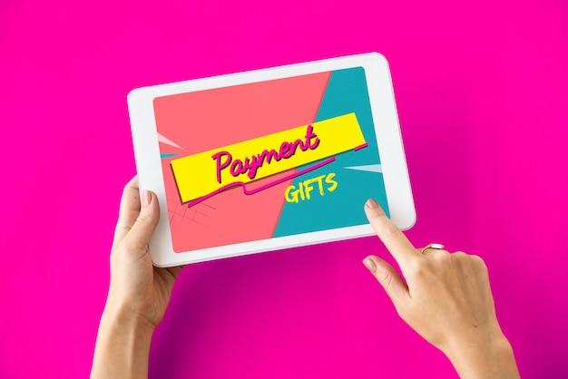 Concepto de comercio electrónico de carrito de compras en línea