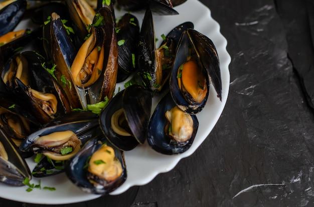 Concepto de comida de dieta paleo mediterránea