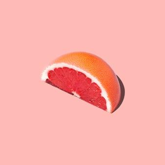 Concepto de comida moda comida con pomelo.