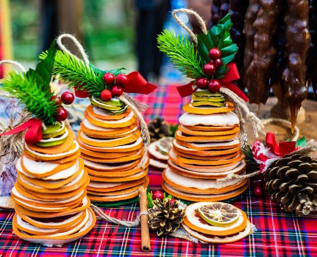 Concepto de comida de navidad