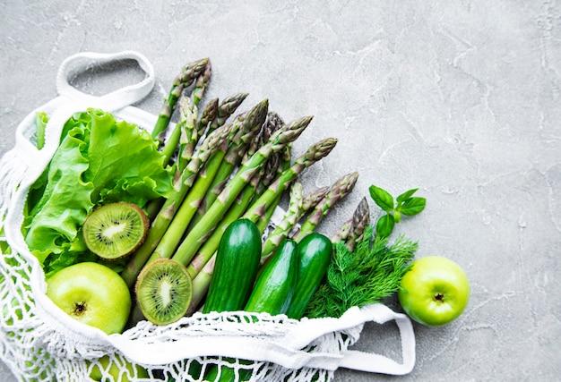 Concepto de comida vegetariana saludable