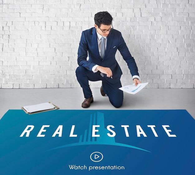 Concepto de compra de propiedad inmobiliaria