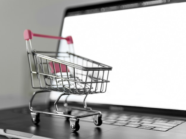 Concepto de compras en línea de primer plano