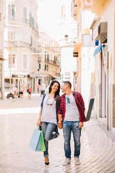 Concepto de compras con pareja