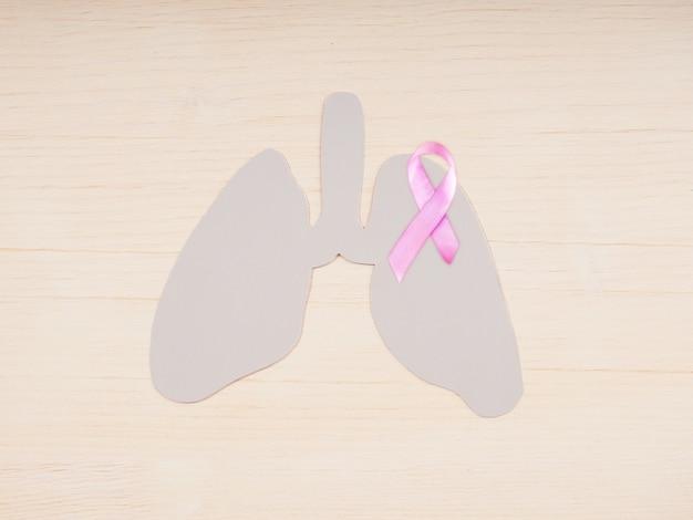 El concepto de conciencia sobre el cáncer de pulmón, enfermedades del sistema respiratorio.