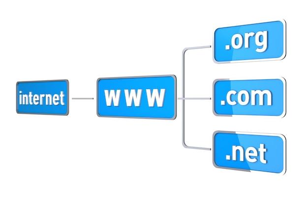Concepto de conexión a internet. imagen generada digitalmente. imagen generada en 3d
