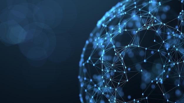 Concepto de conexión de red social global. conexión del enlace del icono de personas.