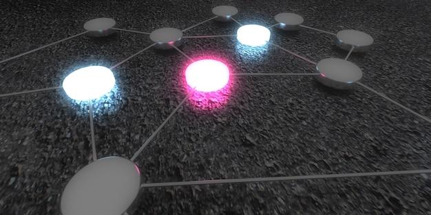 Concepto de conexión, tecnología digital y red empresarial.