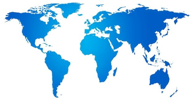 Concepto de conservación ambiental globalización global mapa del mundo