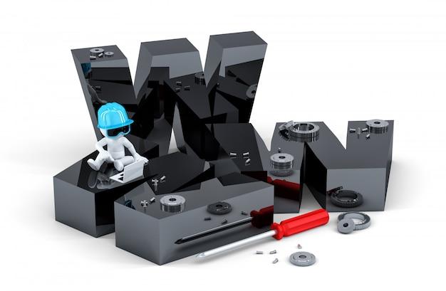 Concepto de construcción de sitios web