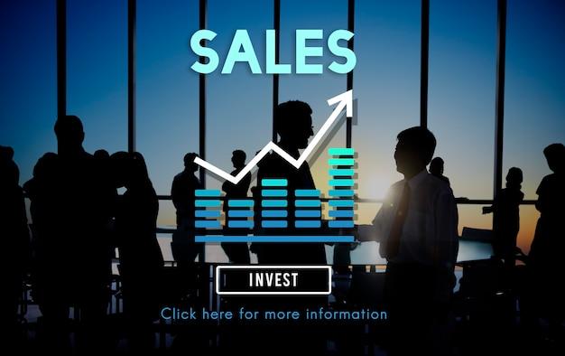 Concepto de contabilidad de ganancias de ingresos minoristas de ventas