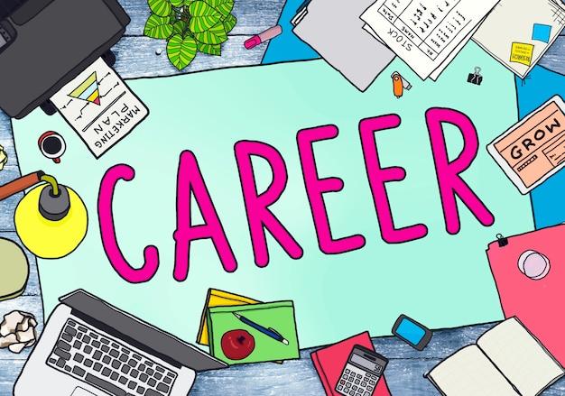 Concepto de contratación de empleo de trabajo de carrera