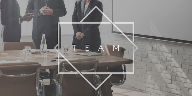 Concepto de cooperación de la organización de socios de trabajo en equipo de equipo