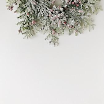 Concepto de corona de navidad