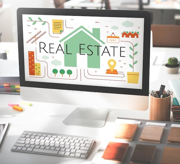 Concepto de corretaje de vivienda inmobiliaria