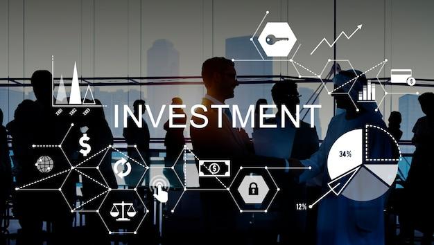 Concepto de costos de crédito presupuestario de negocios de inversión