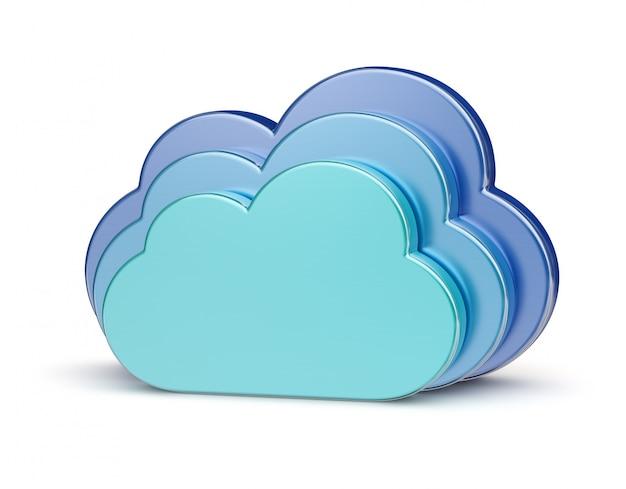 Concepto creativo de computación en la nube