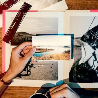 Concepto creativo del estudio del diseño de la ocupación de las ideas de la fotografía