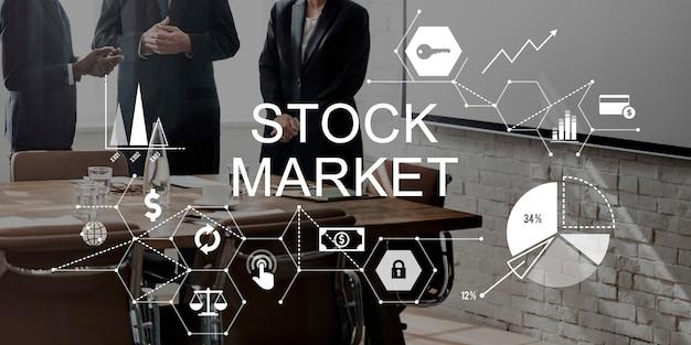Concepto de cuestiones financieras de finanzas del mercado de valores