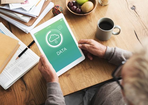 El concepto de datos de almacenamiento en la nube