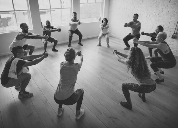 Concepto de clase de yoga