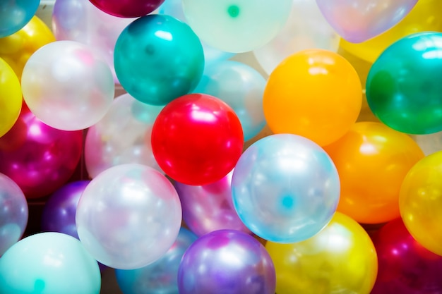 Concepto de fiesta festiva globos coloridos