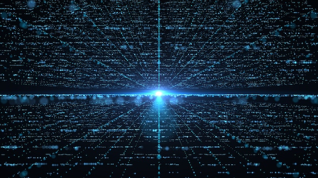 Concepto de tecnología de información de big data futurista.