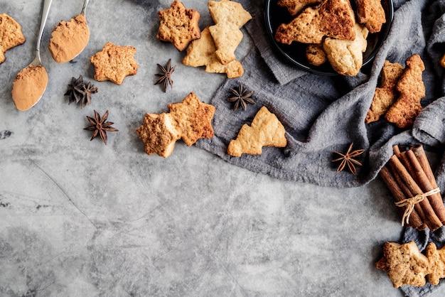 Concepto de deliciosas galletas de navidad
