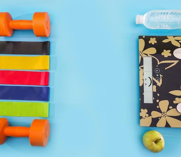 Concepto de deporte, nutrición y estilo de vida saludable.