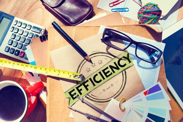 Concepto de desarrollo de motivación de la misión de mejora de la eficiencia