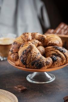 Concepto de un desayuno tradicional italiano.