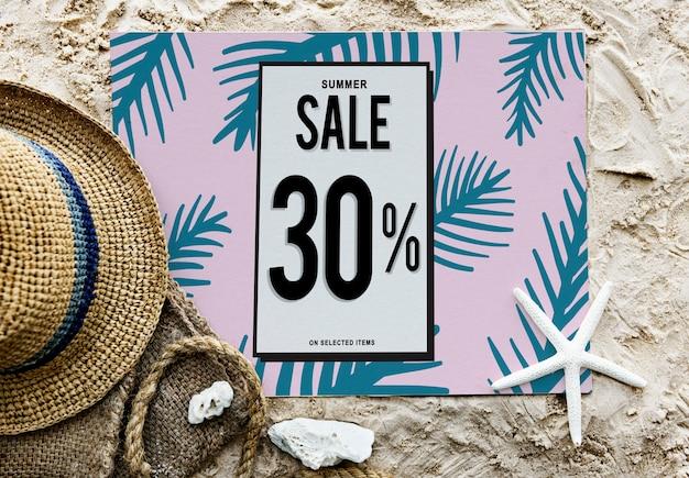 Concepto de descuento de promoción de venta de verano