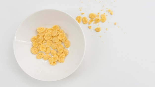 Concepto de desperdicio de alimentos de vista superior
