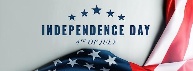 Concepto de día de la independencia de estados unidos 4 de julio, bandera de estados unidos de américa