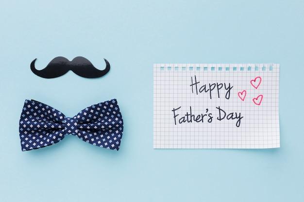 Concepto del día del padre con bigote