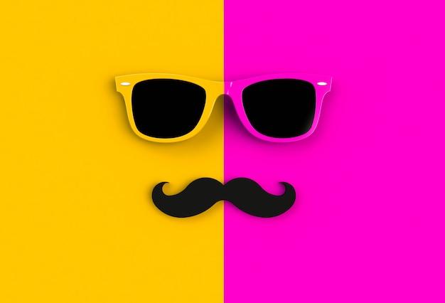 Concepto del día del padre. gafas de sol de hipster