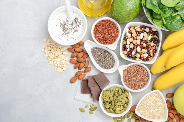 Concepto de dieta de alimentos de nutrición saludable.