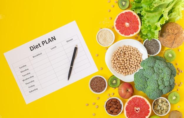 Concepto de dieta de estilo de vida saludable.