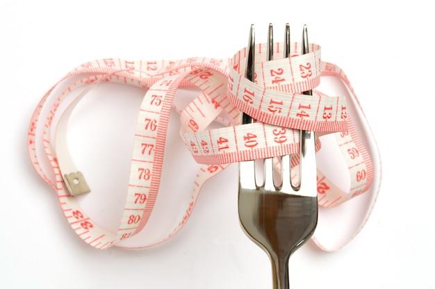 Concepto de dieta, perder peso y comer sano.