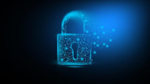 Concepto digital de código de datos de seguridad