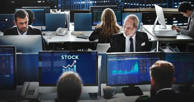 Concepto de dinero de forex de banca empresarial de finanzas de valores