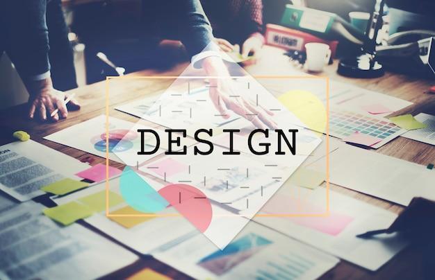 Concepto de diseño exterior interior gráfico de moda