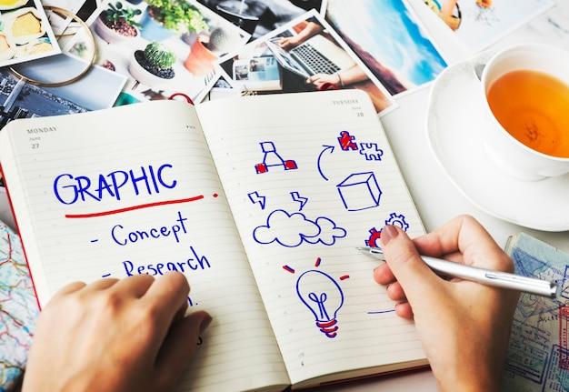 Concepto de diseño de simplicidad de creatividad gráfica